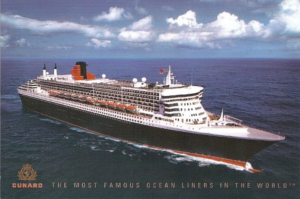 QM2 from a postcard